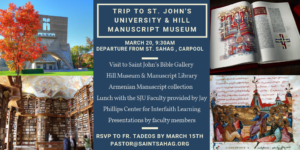 Trip to St. John's University & Hill Manuscript Museum @ St. John's University