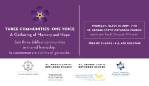 Three Communities: One Voice @ St. George Coptic Orthodox Church
